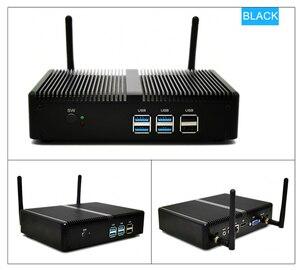 Image 3 - 安いファンレスミニpcインテルi5 7200U i3 7167U windows 10ベアボーンシステムpcユニットデスクトップコンピュータのlinux htpc vga hdmi wifi 6 * usb