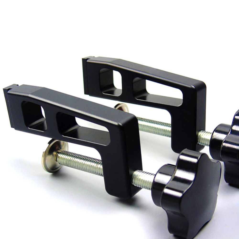 2pcs  45mm/75mm Chute Aluminium Alloy T Track T-tracks Woodworking Standard Miter Track Stop Woodworking DIY Tool