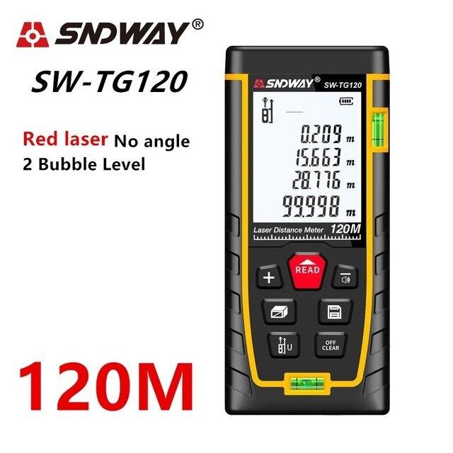 Sndway Laser Rangefinder Distance Meter 120m 100m 70m50m Digital Electronic Roulette Trena Laser Tape Measure Ruler Range Finder