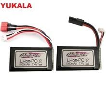Литий Полимерный Аккумулятор 7,4 В 1000 мАч для XLH Xinlehong 9130 9136 9137 Q901 Q902 Q903 1/16 2,4G Запчасти для радиоуправляемых автомобилей
