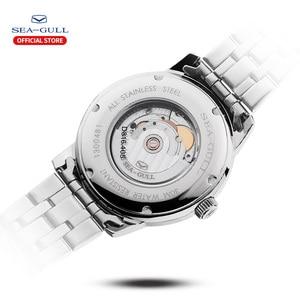 Image 4 - Seagull mens watch business steel belt automatic mechanical watch waterproof leather buckle sapphire mens watch D816.405