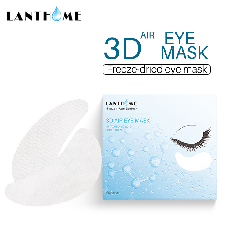 3D Freeze Dried Anti Wrinkle Collagen Eye Mask Remove Eye Bags Dark Circles Under Eye Patches Firming Lift Hyaluronic Acid Mask