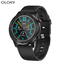 цена на New IP68 Waterproof Smart Watch Men Heart Rate Monitor Blood Pressure Oxygen Full Round Touch Screen For for Android Ios Phones