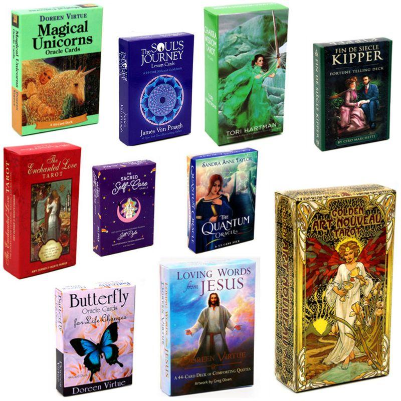10 stili Inglese Tarocchi Mazzo di Carte di Famiglia Del Partito di Festa Misterioso Divinazione Mazzo di Tarocchi Oracle Gioco di Carte da gioco Gioco Da Tavolo