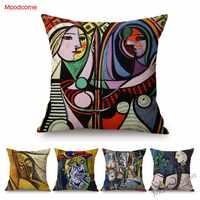 Pablo Picasso peinture à l'huile Art moderne abstrait impressionnisme Showroom décoratif jet taie d'oreiller coton lin housse de coussin