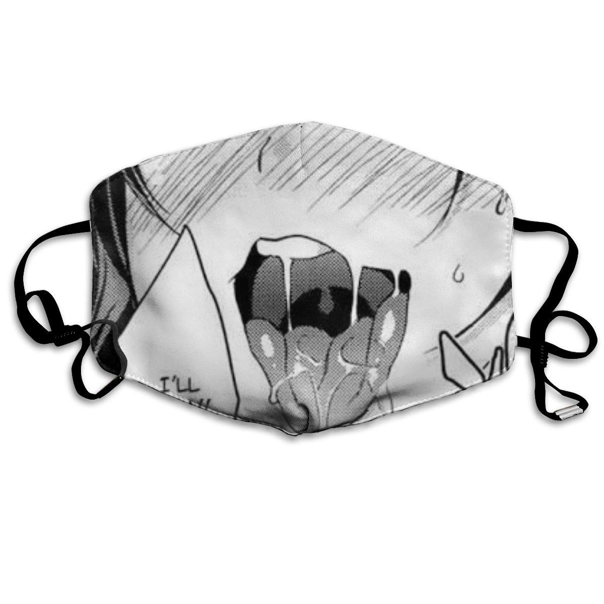 Dust Face Mask Ahegao O-Face Mouth Mask Washeable Reusable Face Mouth Mask Protection Anti Pollution Respirator