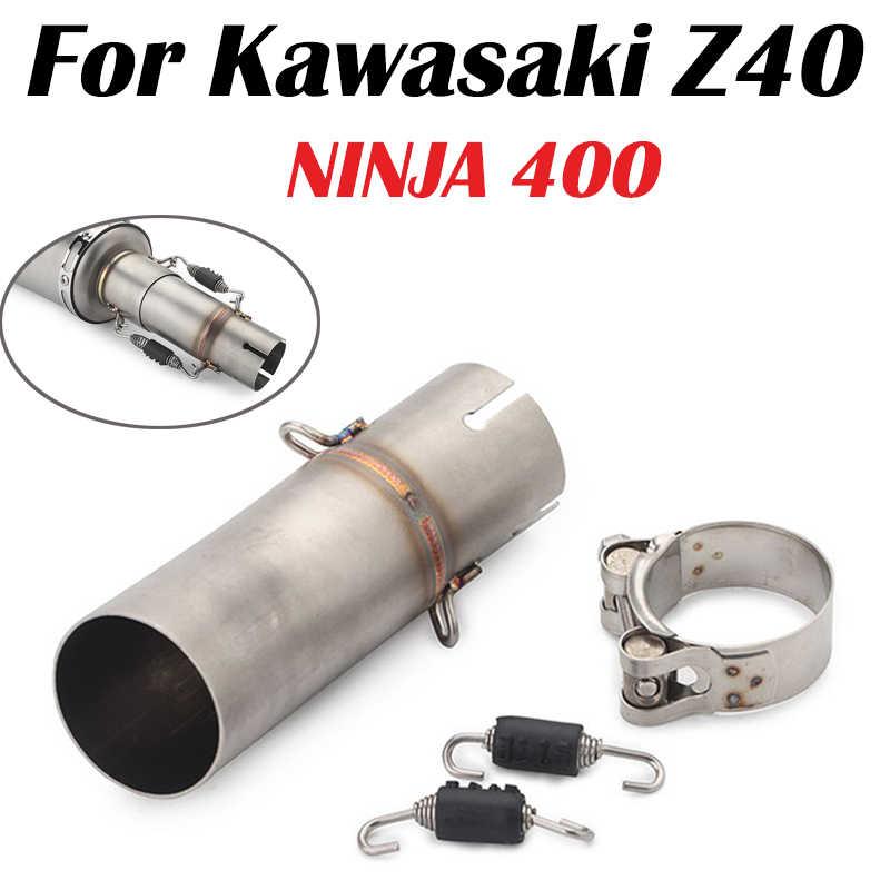 Slip On motocykl wydechowy ucieczka 48/51mm bliski połączenie rura łącząca tłumik dla Ninja 400 250 EX400 Z400 2017 2018 2019