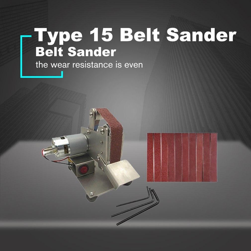 Multifunctional Grinder Mini Electric Belt Sander Polishing Grinding Machine Cutter Edges Sharpener Belt Grinder Sanding