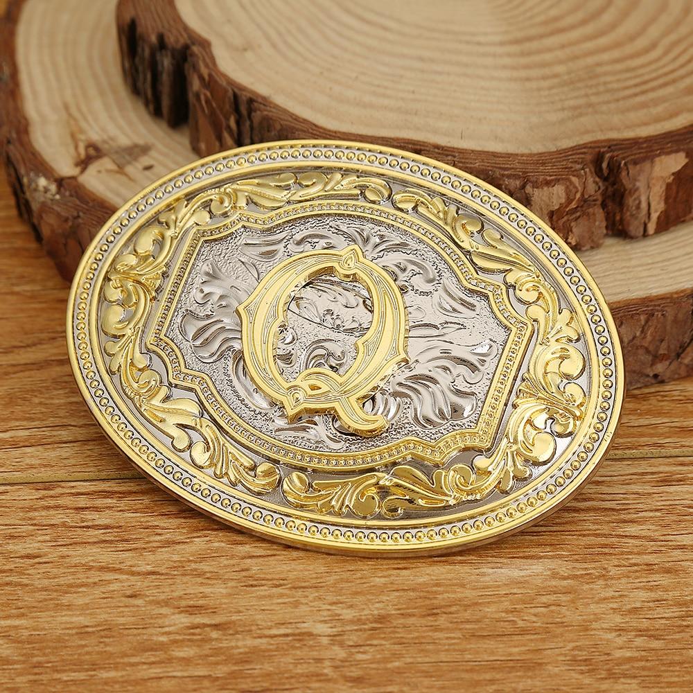 Western Cowboy Silver Gold Initials Last Name Zinc Alloy Belt Buckle Popular Belt Buckle