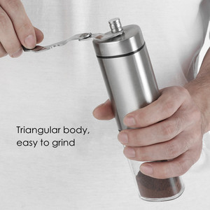Image 2 - 수동 커피 그라인더 빨 세라믹 코어 스테인레스 스틸 수제 미니 휴대용 커피 콩 버 그라인더 밀 주방 도구