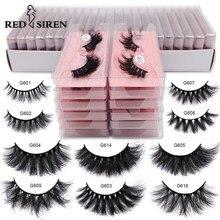 RED SIREN Real Mink Lashes Wholesale 5-100 Pairs Soft Fluffy Natural Eyelashes Bulk Handmade Makeup Mink Eyelashes