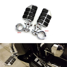 Universal Chrome Footpeg Foot Pegs Footrest For Touring Electra Road Kind Street Glide For Harley Honda Yamaha Kawasaki Suzuki for harley sportster xl models 883 xl883 xl1200 touring road king street highway adjustable clamps footrest footpeg foot pegs