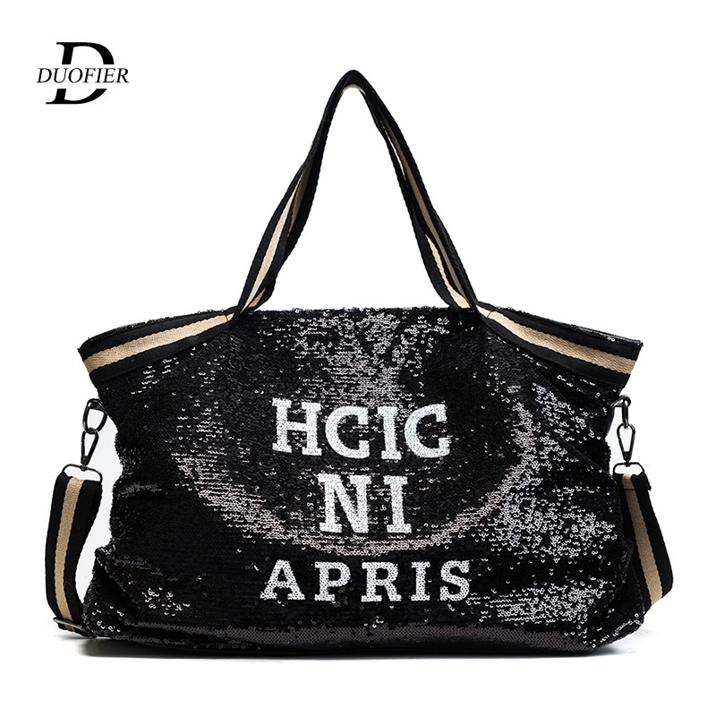 Women Bags Top-Handle-Bags Messenger-Bags Casual Tote Sequin Female Girl Appliques National