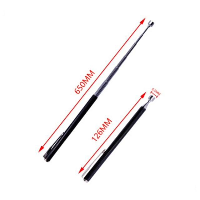 텔레스코픽 조정 가능한 자석 픽업 도구 그립 연장 가능한 긴 도달 펜 강력한 자석 자석을 따기위한 편리한 도구