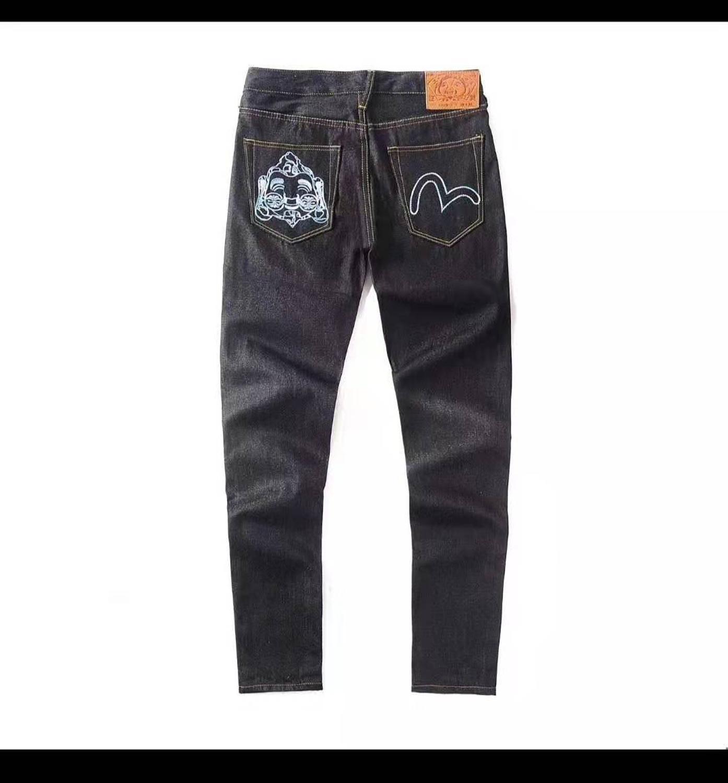 2020 Authentic Evisu Breathable High Quality Trend Fashion Men Pants Warm Jeans Straight Mid Waist Leisure Men's Trousers E6095