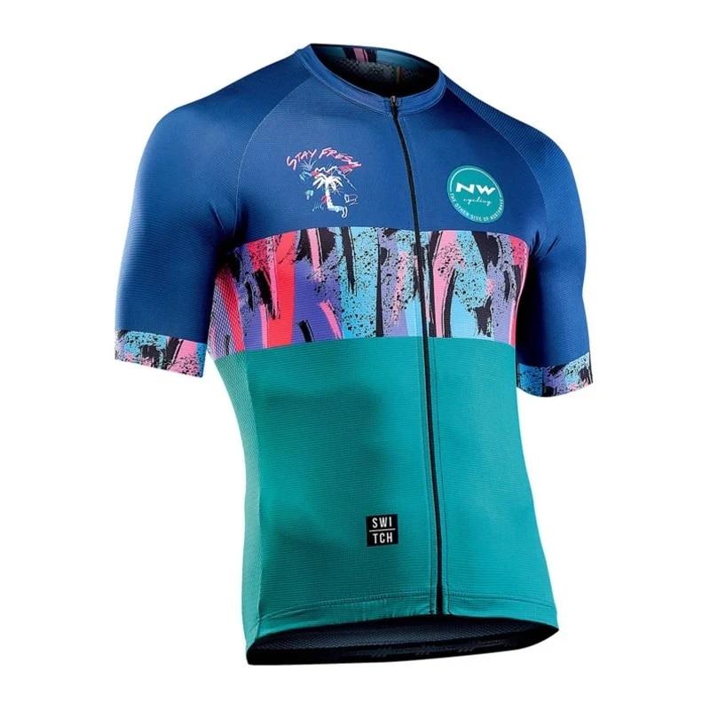 2020 Mens Team Cycling Jersey Short Sleeve Bike Tops Bicycle Jersey Racing Shirt