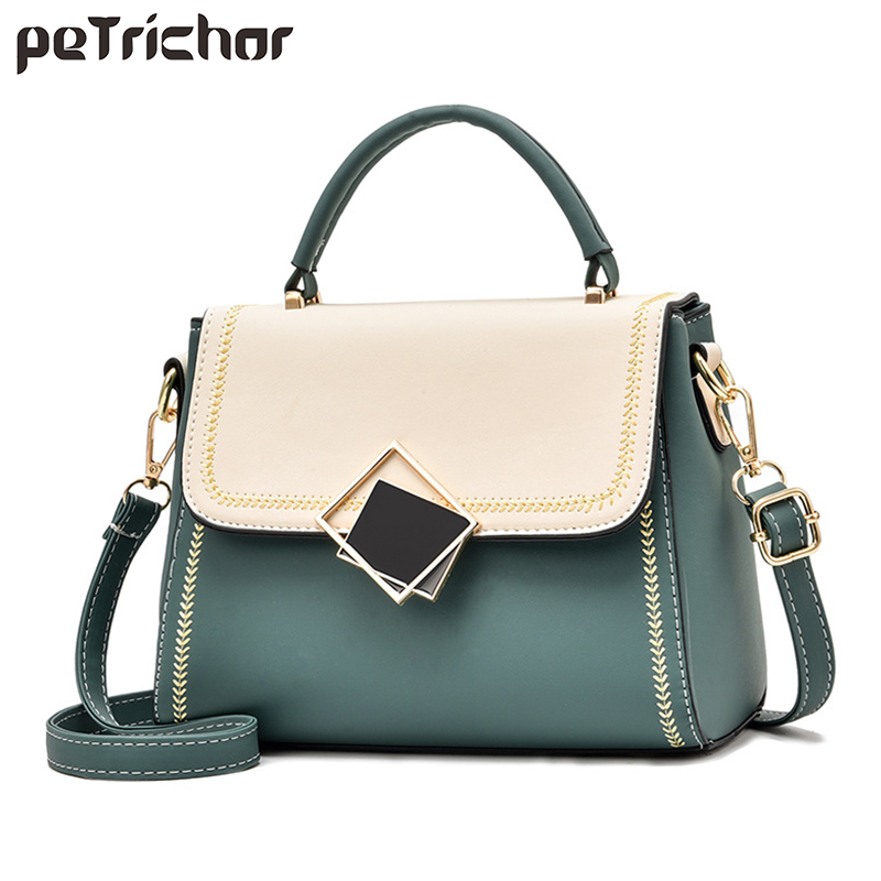New Patchwork Crossbody Bags For Women 2020 Fashion PU Leather Purse Female Totes Luxury Ladies Handbags Shoulder Messenger Bag