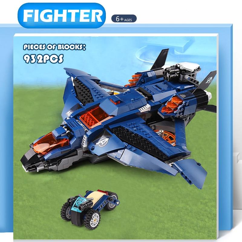 Avengers 4 Endgame Ultimate Quinjet Set Building Bricks Blocks Captain Marvel Figuresd Compatible With Lepining Kids Toys Gifts