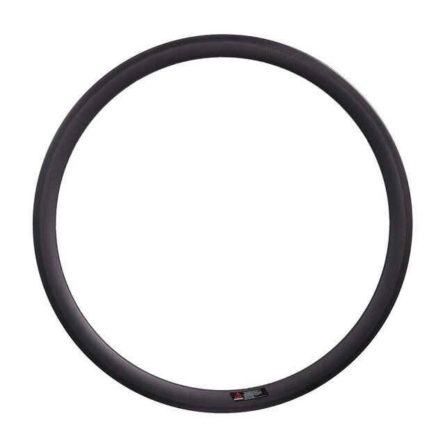 פחמן גלגל 650C 38mm/50mm נימוק מכריע 20.5mm רוחב V בלם רים מלא סיבי פחמן מול /שפה אחורית כביש אופניים
