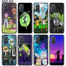 Rick And Morty Funny Silicone Phone Case For Vivo S1 Pro Y12 Y15 Pro Y17 Y19 Z6 5G Y30 Y50 V19 iQOO 3 5G Z1 Soft Back Cover candy solid color liquid case for vivo iqoo neo 3 5g case for vivo iqoo z1 5g phone case for vivo iqoo neo3 cover iqoo z1 6 57