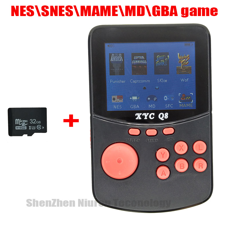 With 512M\32G TF Card Retro Handheld Video Games Console For NES\SNES\MAME\MD\GBA 16 Bit Arcade Game Players 10000 Games TV Out