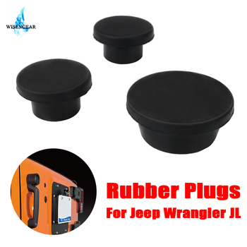 Tailgate Rubber Plugs Durable Removable Snug Hole Plug For Jeep Wrangler JL 2018 2019 Car Rear Door Spare Tire Rubber Hole Plug image