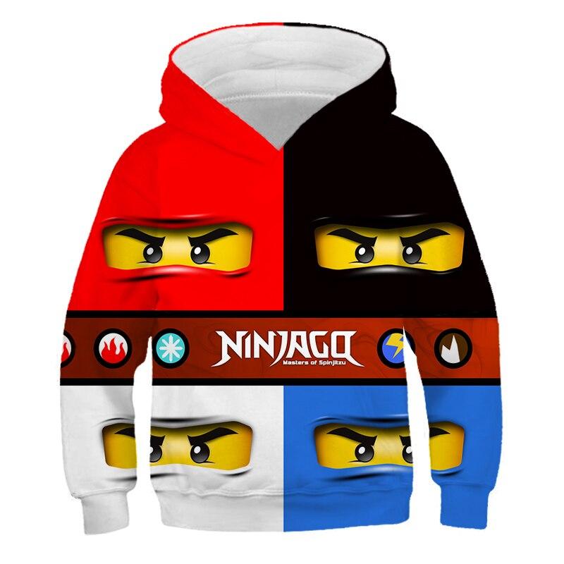 4-14 Years Baby Girl Hoodie Boys Sweatshirt The streets of harajuku Ninjagoes Hoodies Legoes Clothes Cartoon Children Jumpers 2