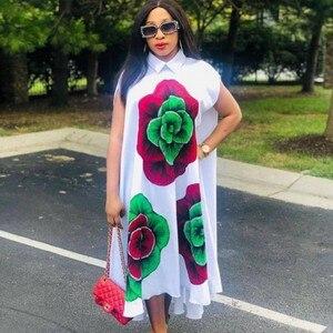 Image 1 - African Dresses For Women African Clothes Africa Dress Print Dashiki Ladies Clothing Ankara Plus Size Africa Women Dress