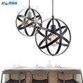 Железный промышленный подвесной светильник креативный Ретро металлический шар винтажное промышленное освещение подвеска в холле бар остр...