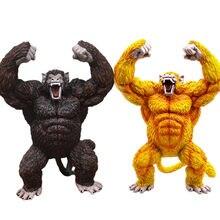 Dragon ball z anime estátua son goku macaco pvc figuras de ação 380mm dragon ball super goku dourado macaco modelo brinquedos