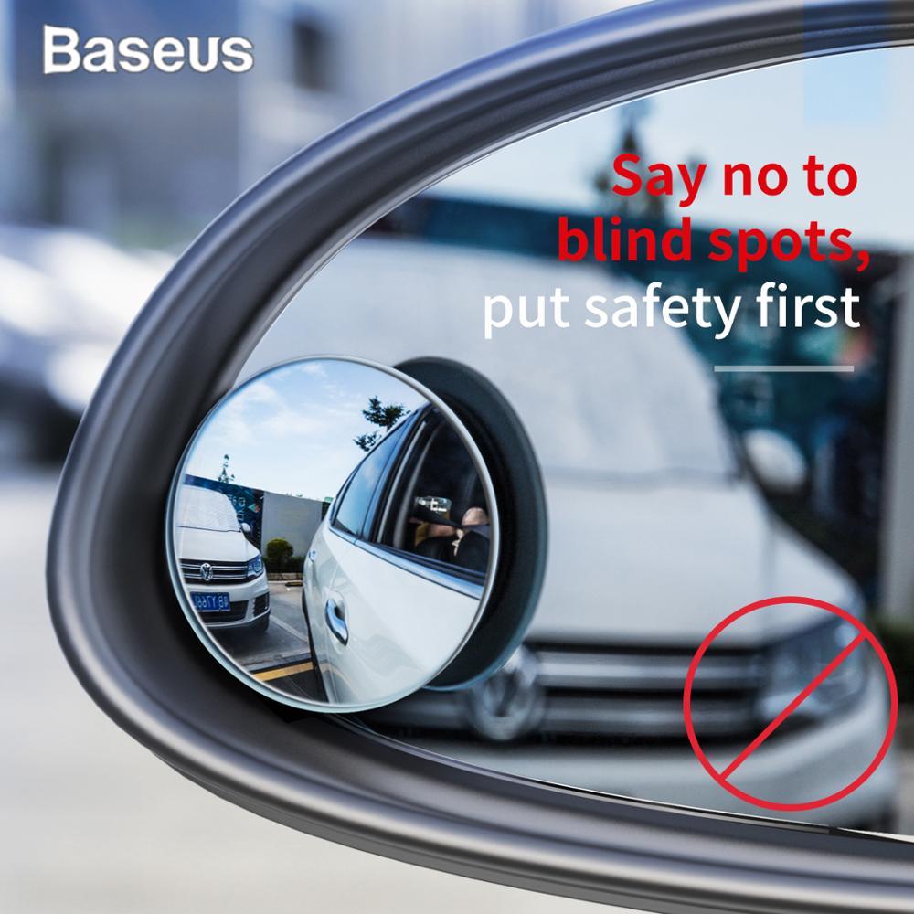 BASEUS 2 pcs Full View HD รถกระจกมองหลังสำหรับรถยนต์กระจกมองหลัง Anti ตาบอดที่จอดรถ Rimless กระจก