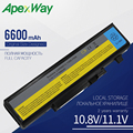Аккумулятор Apexway для ноутбука  9 ячеек  6600 мАч  для Lenovo IdeaPad Y450 Y450A Y450G Y550 Y550A Y550P 55Y2054 L08L6D13 L08O6D13 L08S6D13