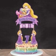 Принцесса/Винни-Пух, праздничный баннер на заказ, топпер для капкейков, счастливая фотография, детские украшения для вечеривечерние