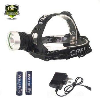 Мощный 1800лм налобный фонарь 10 Вт XM-L T6 светодиодный головной светильник водонепроницаемый ходовой головной светильник угольный Шахтер Фоку...
