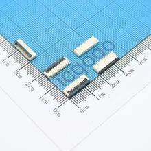 цена на Free Shipping 10pcs 1mm Pitch Under Clamshell Socket FPC FFC Flat Cable Connector 4P 5P 6P 8P 10P 12P 14P 16P 20P 22P 24P 30P 34