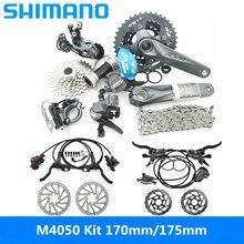SHIMAN0 ALIVI0 M4000 / M4050 9 vitesses 27 vitesses VTT kit de changement de vélo ajouté BR M4050 + RT56 / MT200 + G3 tout neuf origi