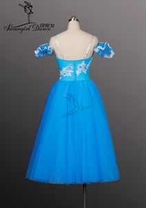 Image 3 - כחול ציפור רומנטי ארוך אורך בלט חצאיות טוטו בנות בלט ג יזל טוטו ארוך בלט טוטו עבור בנות, בלט costumeBT8906