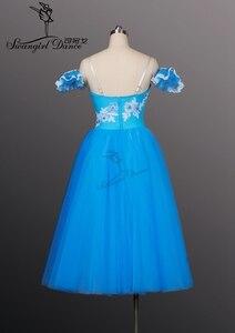 Image 3 - Mavi kuş romantik uzun uzunluk bale tutuş kızlar Giselle bale Tutu uzun bale tutu kızlar için, bale costumeBT8906