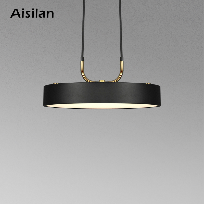 Aisilan minimalist LED pendant light Nordic style Cylindrical Modern for dining room cafe bar personality pendant lamp