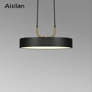 Image 1 - Aisilan minimalist LED pendant light Nordic style Cylindrical Modern for dining room cafe bar personality pendant lamp