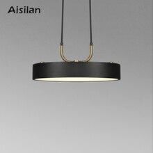 Aisilan minimalistyczny wisiorek LED light styl skandynawski cylindryczny nowoczesny do jadalni cafe bar wisiorek podkreślający osobowość lampy