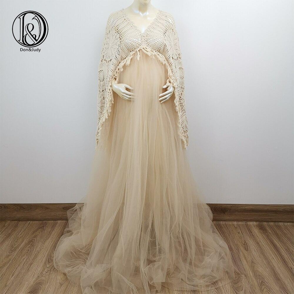 Don Judy Boho Maternity Dresses Long Sleeve Pregnant Women Maxi Tulle Gown Sexy V Neck Bohemia Pregnancy Dress For Photo Shoot Mega Deal 4340 Cicig