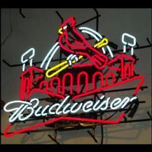 Custom St louis cardinals Budweiser Glass Neon Light Sign