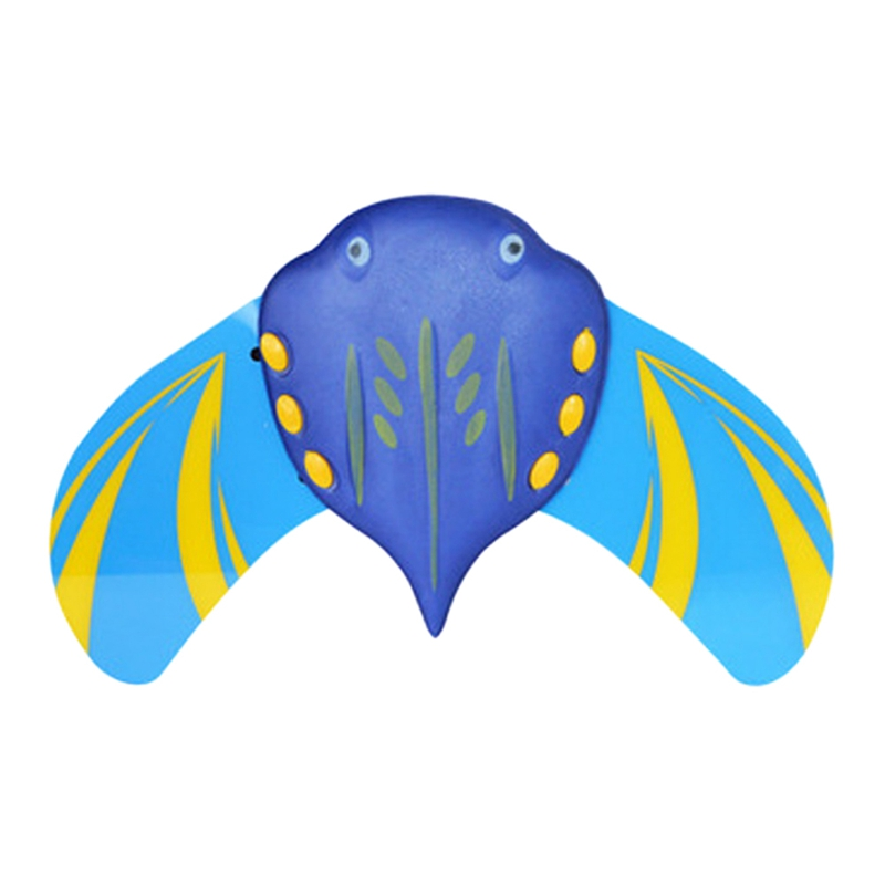 Mini Fish Underwater Glider Self-Propelled Adjustable Fins Pool Game For Children Kids Blue