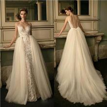 Платье свадебное кружевное с юбкой годе пикантное винтажное