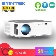 BYINTEK K20 Full HD 4K 3D 1920x1080p Android Wifi LED wideo 300 calowy projektor kina domowego Proyector Beamer na smartfona tanie tanio Instrukcja Korekta Projektor cyfrowy 16 09 150W Brak 500 ANSI lumens System multimedialny 1920x1080 dpi 500ANSI Lumens 50-300 inch
