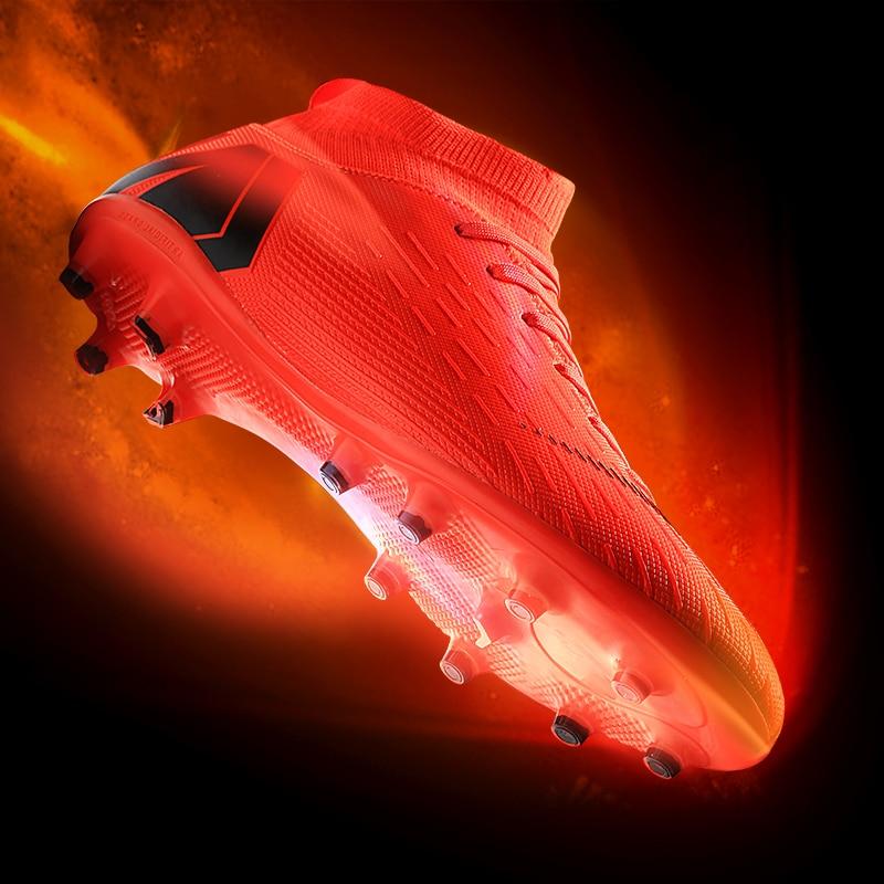 Nouveau 2019 unisexe chaussures de Football en plein air gazon Futsal bottes hommes AG crampons Original Football chaussures de sport adolescents bottes de Football chaud