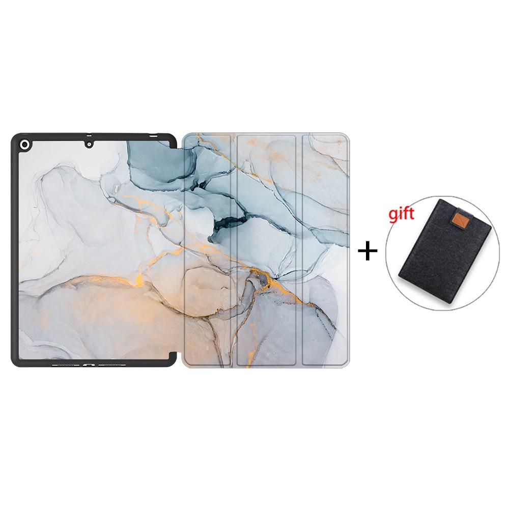 IPTPU08 Gray MTT Soft TPU Back Case For iPad 10 2 inch 7th 8th Gen Marble PU Leather