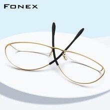 نظارات رجالي بإطار من التيتانيوم B بوصفة طبية 2019 فائقة الخفة ومطاطة بالكامل بإطار نظارات بصرية للرجال بدون مسامير 874