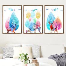 Скандинавская акварель Лось лес украшение живопись студия холст